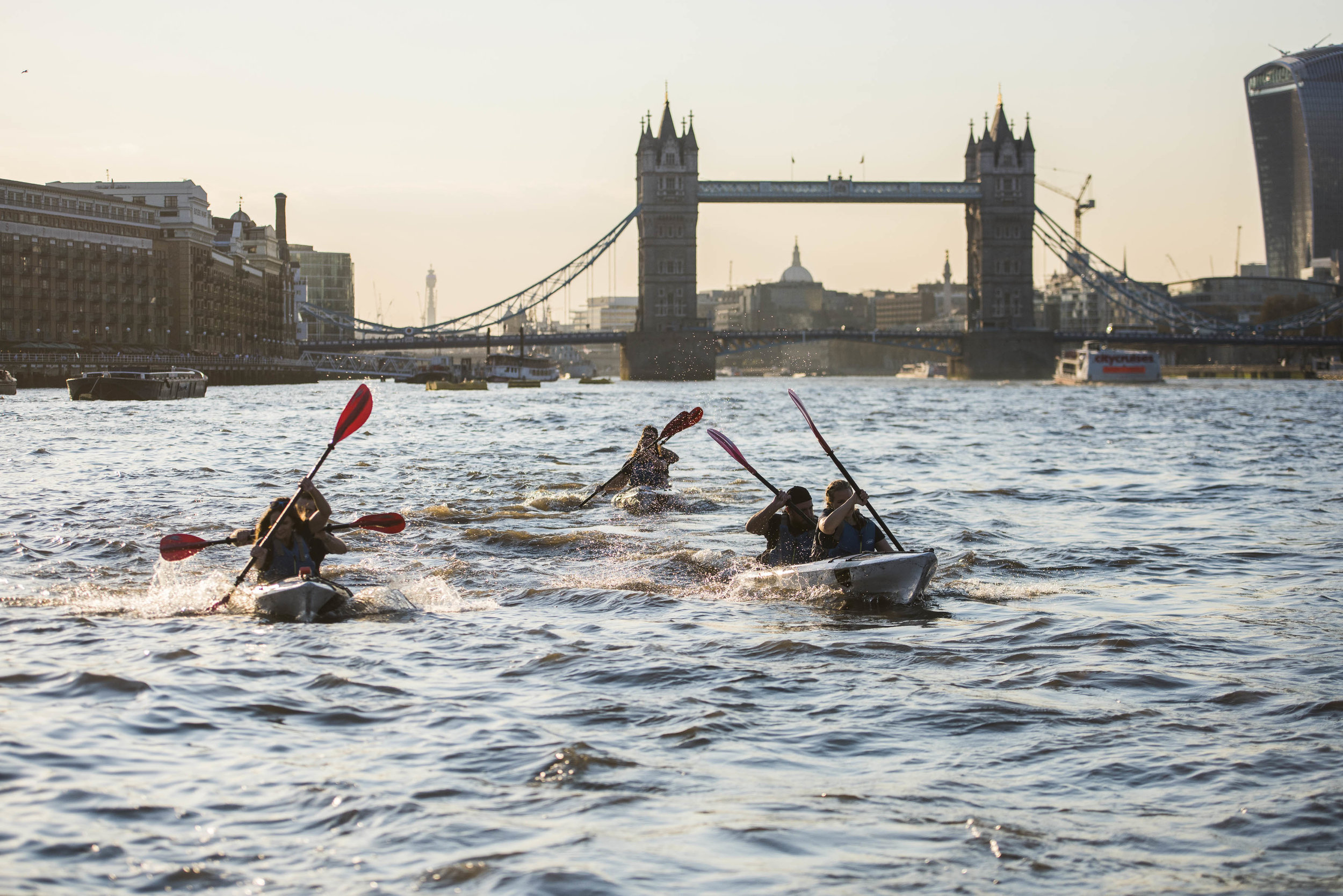 Talisker Whisky Challenge, kayaking London