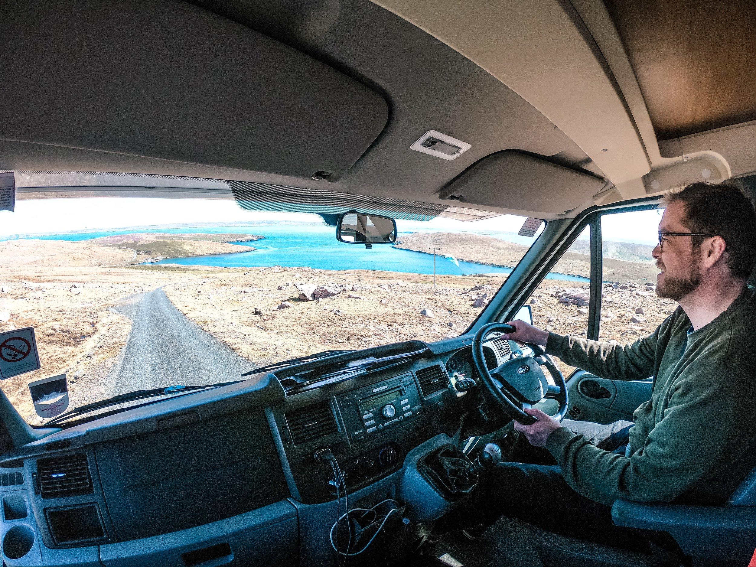 Campervan road trip, Shetland