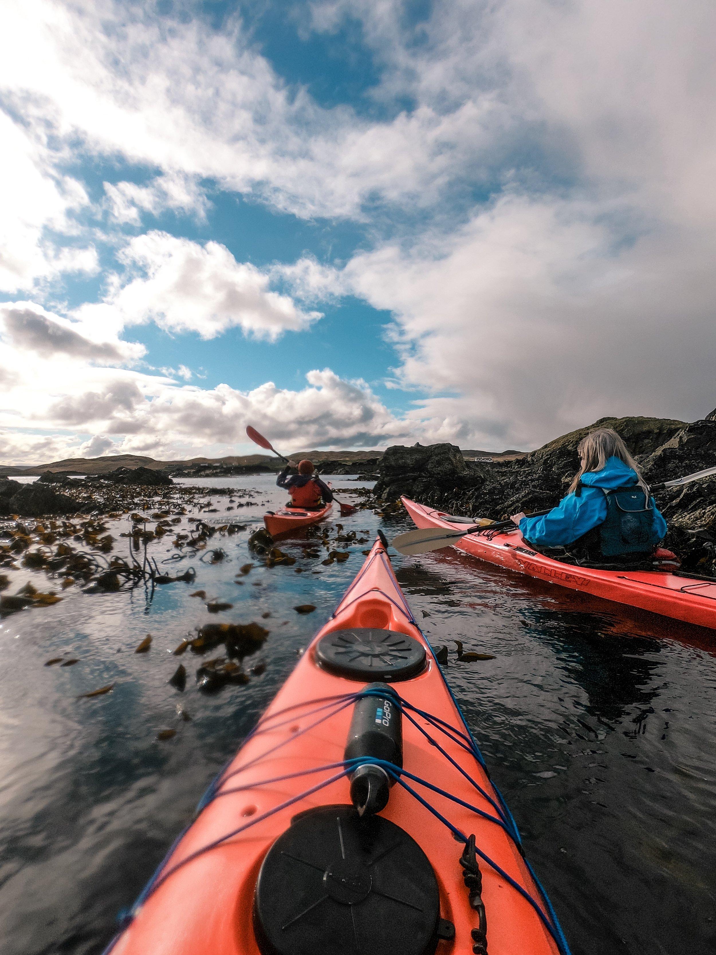 Sea kayaking Shetland