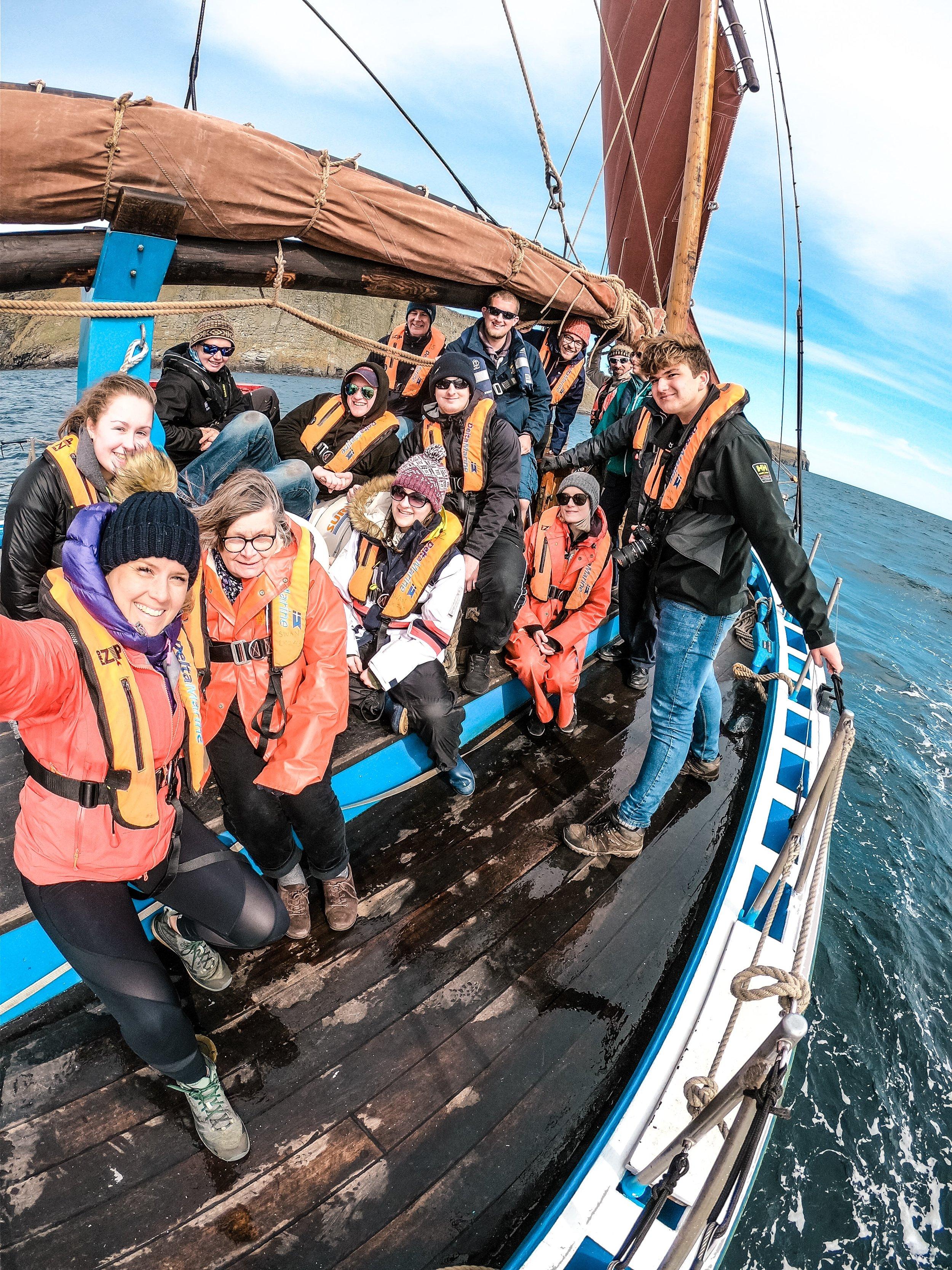Sailing on The Swan, Shetland