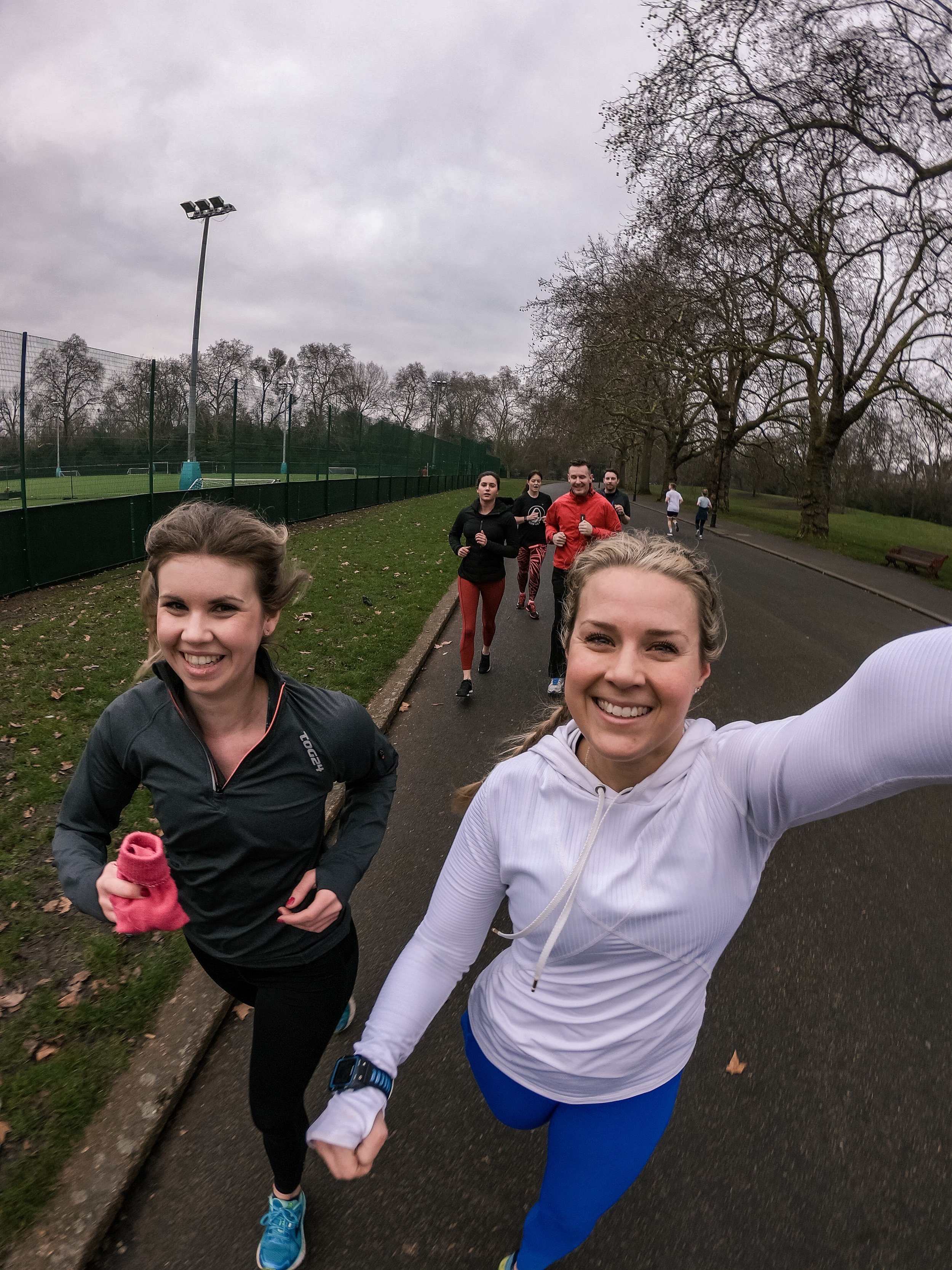 Training in Battersea Park, London