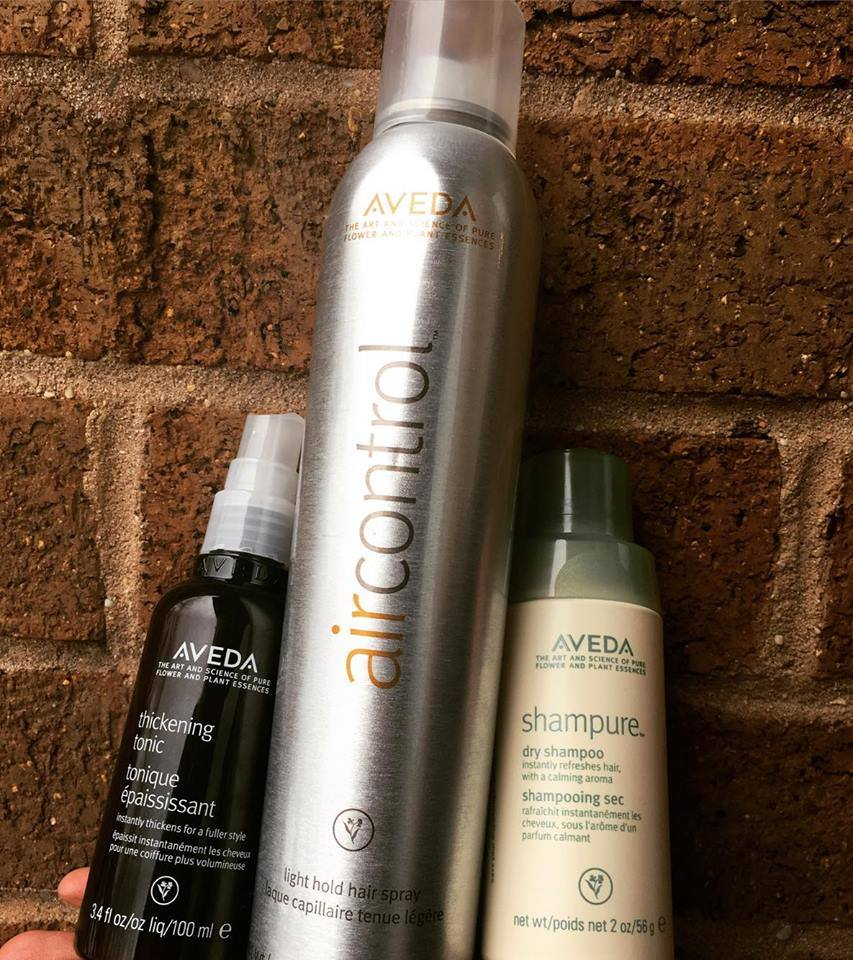 Thickening Tonic, Air Control, and Shampure Dry Shampoo
