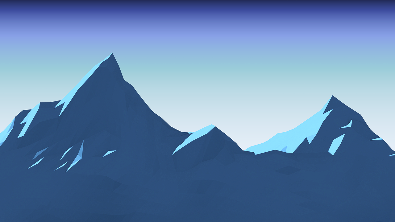 "Day 4 - ""Mountain""  Low poly mountains is everywhere, apart from trees, it's usually the first thing people make in this style so I wanted to make something a tiny bit different, taking some concepts I learnt before about fake lighting, I made this simple toon shader based mountain.     That's it for this week, come back next week or follow me on twitter to see more of my lowpoly_dailies experiments :)"