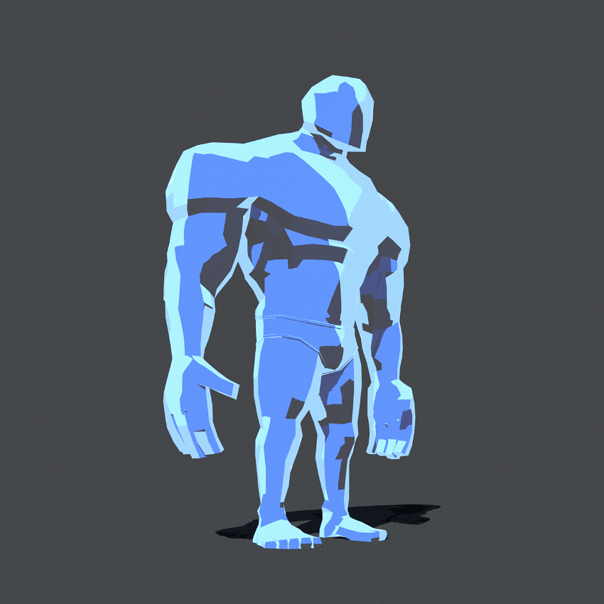 Strong Bot - Cel shaded style