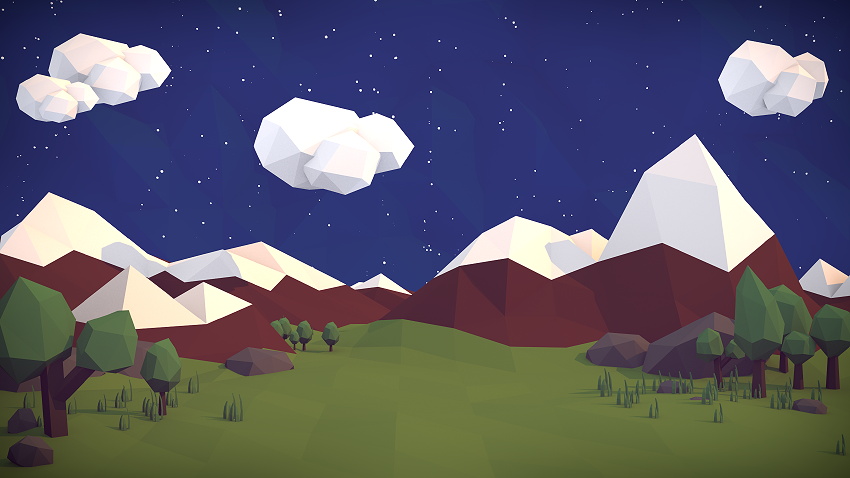 """My First Ever """"Low Poly"""" Style Scene"""