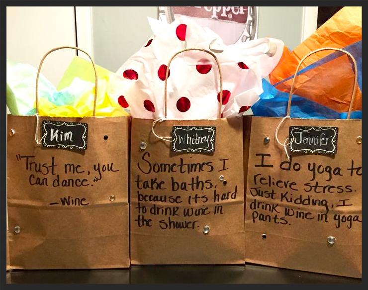 Wine trip gift bags