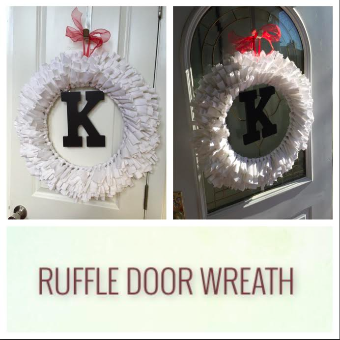 Ruffle Door Wreath