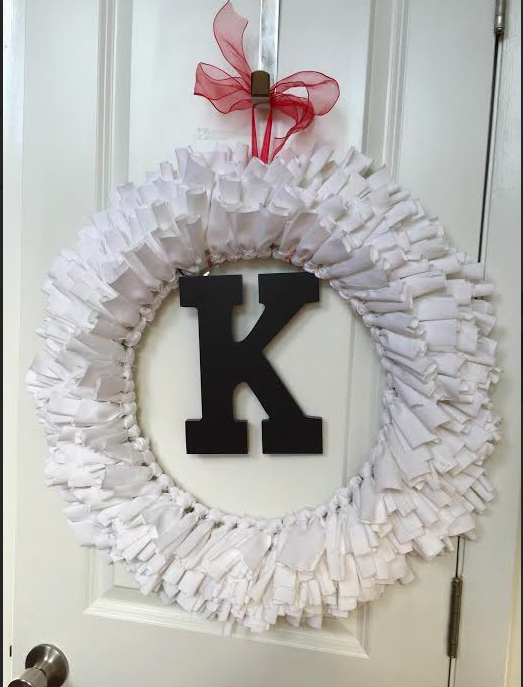 Door Wreath made from a sheet
