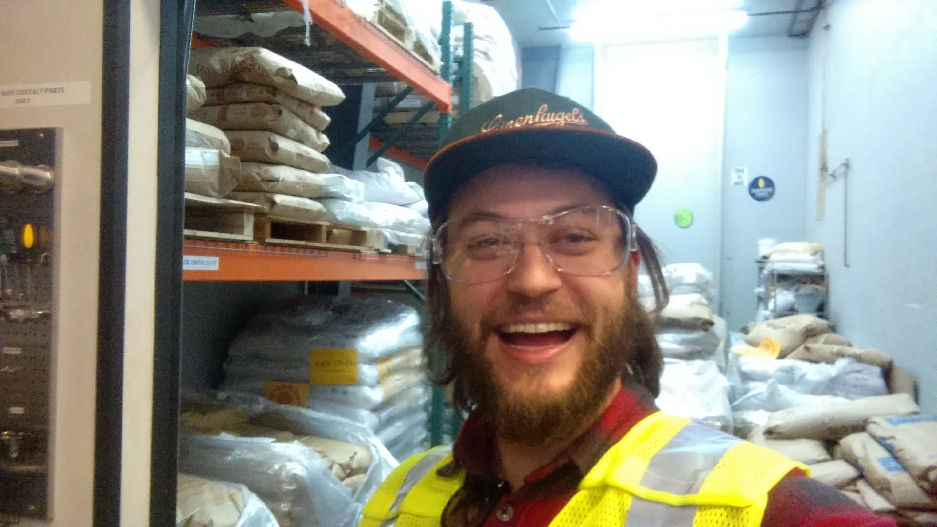 Cheesing hard in the store room at 10 Barrel