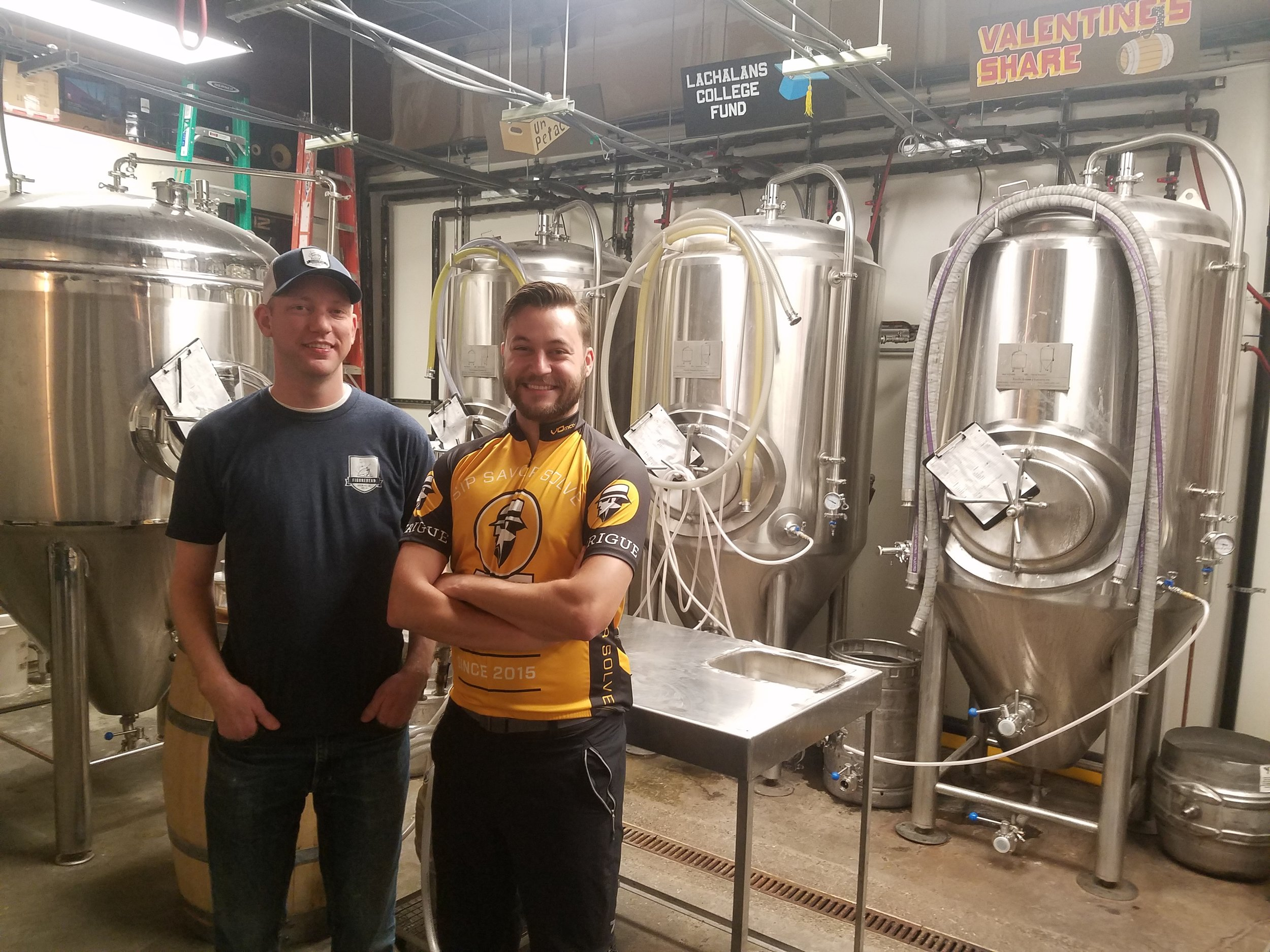 Bob and me in the brewery