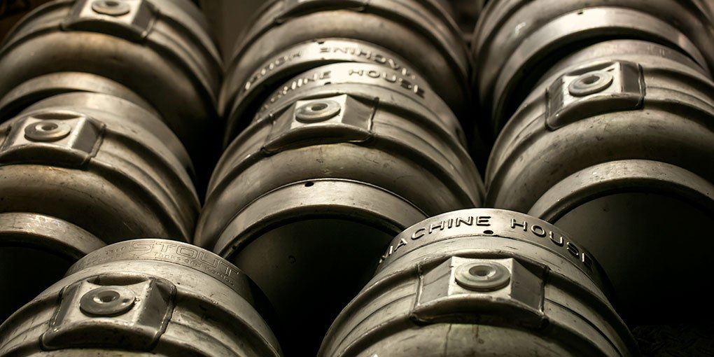 A photo of casks from  Machine House Brewery . In exchange for the following plug, thanks for letting me use this photo: Machine House Brewery in Seattle has awesome cask beers!