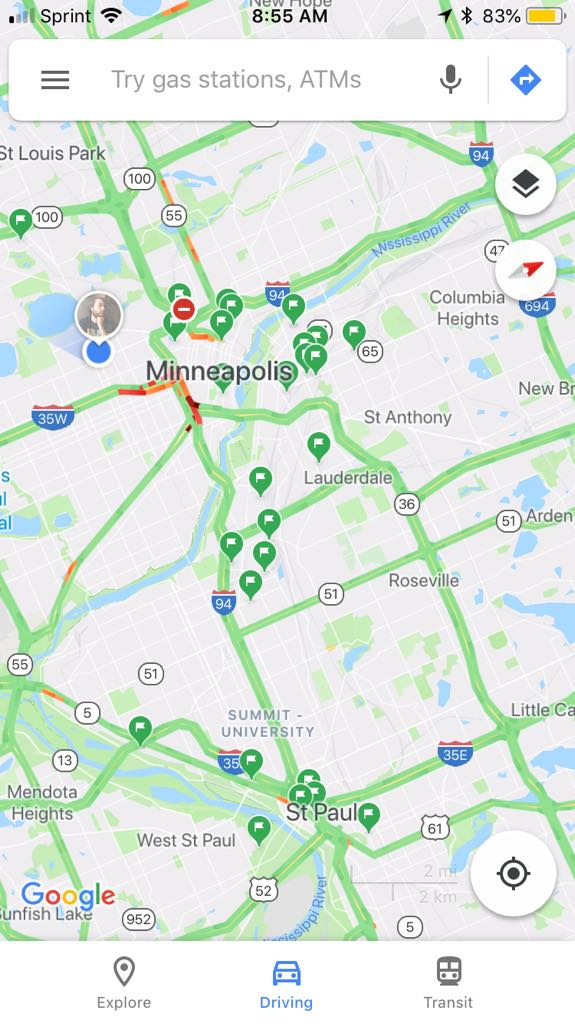 Lots of breweries and a little traffic