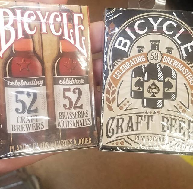 Found these bad boys at Fred Meyer. No one ever expects 2 different sets of brewery themed playing cards!