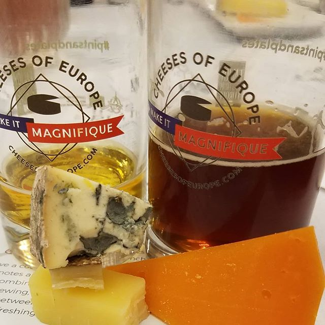 No competition, the best pairing of the afternoon at the #beernow19 conference was the Mimolette and Doppelbock and it looks like the room agreed. @cheesesofeurope #pintsandplates  #cheese #cheesepairing #beerandfoodpairing #beerandfood #triplecreme #camembert #emmental #mimolette #comte #bleucheese #mold #beer #booze #pinkiesout