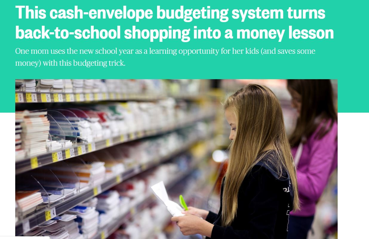 From NBCnews.com - an article about back to school money lessons for students