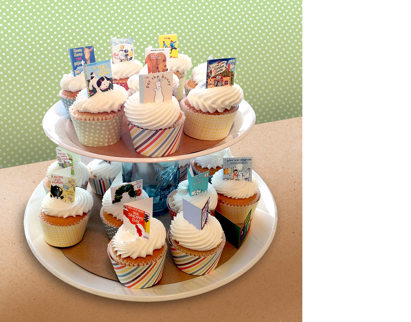 book themed baby shower mini book cupcake toppers