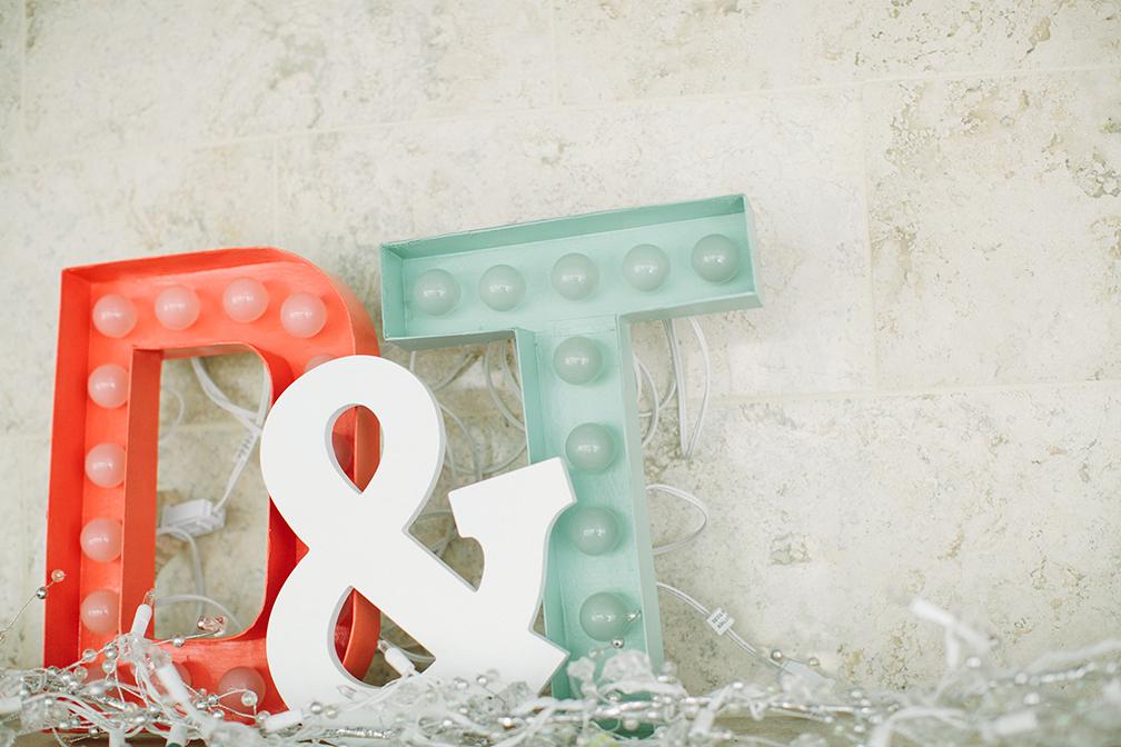DIY wedding marquee letters - Devon Design Co
