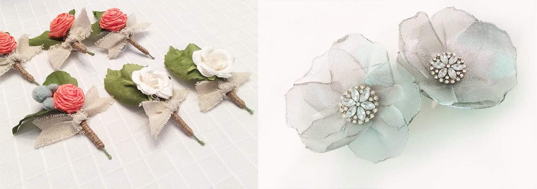 wedding boutonnière design - Devon Design Co