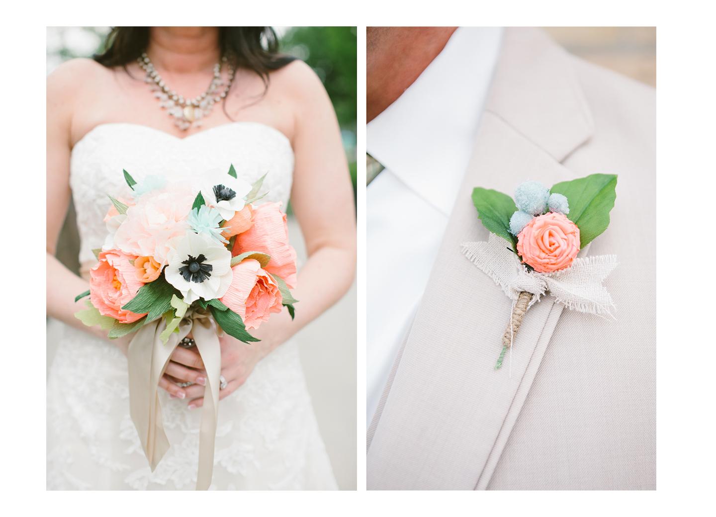 Wedding paper flower bouquet - Devon Design Co