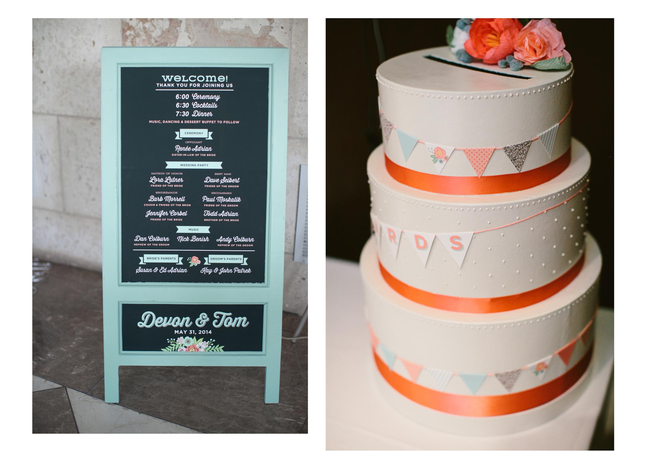 Wedding Program board & card box - Devon Design Co