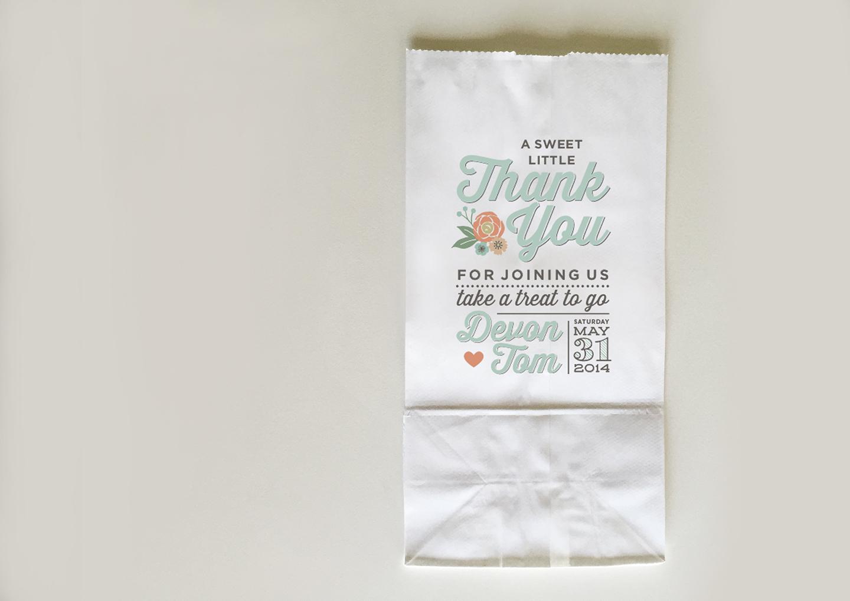 Wedding Treat thank you bag - Devon Design Co