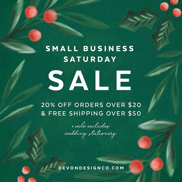 Thank you to everyone who supports small business! I'm running a sale in my shop this weekend through Cyber Monday. Check it out for stationery & art perfect for gifting 💕 #smallbusinesssaturday #etsyonsale #cybermonday #handmade