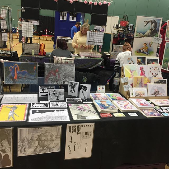 At Plymouth comic con with @marcellustemple today, come and see us at the life centre! #art #illustration #plymouth #comiccon