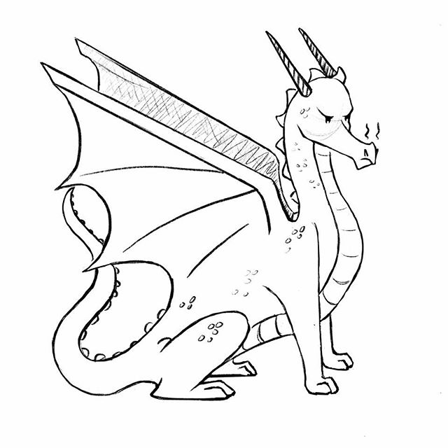 Doodles this stroppy so and so at the convention today :D #art #illustration #digitalart #doodle #dragon #sketch