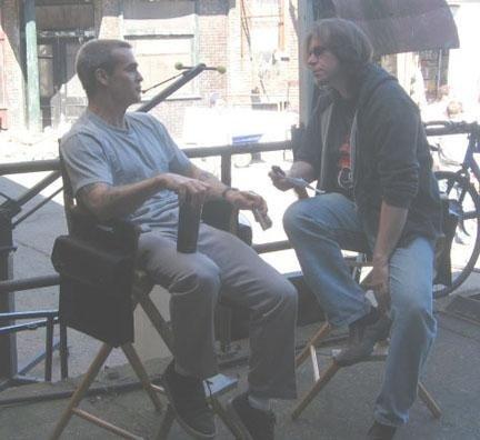 Henry Rollins on set