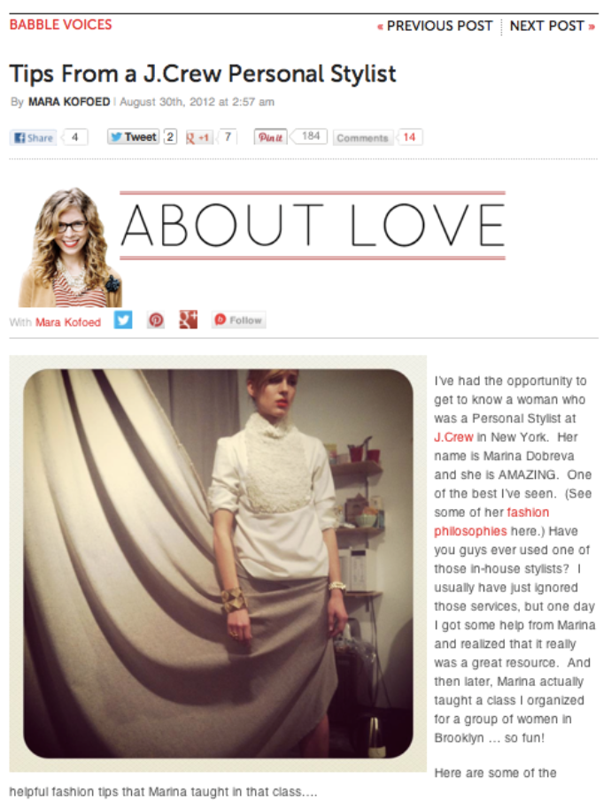 A Blog about Love