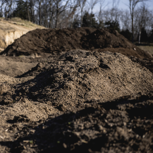Nebraska Blend Top Soil - $25 per cubic yardOur top soil not only diverts yard waste from the landfill, but it's also 100% organic and locally sourced. It's a perfect mix of nutrients, plant matter, and sand to promote healthy growth and proper drainage in fields and yards.Not recommended for use in gardens.