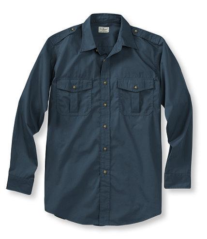 L.L Bean Men'sCotton Poplin Field Shirt       Dark Mariner $54
