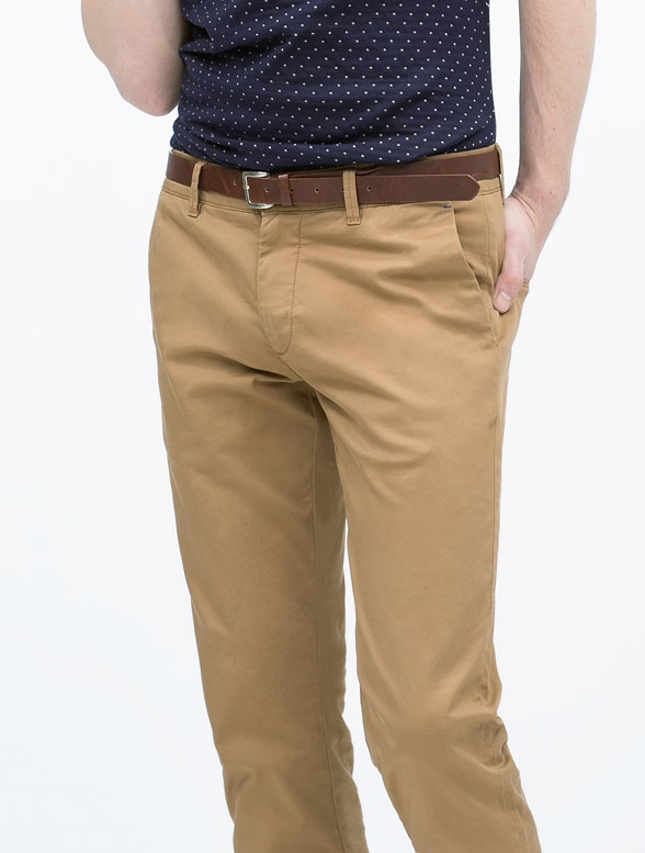 Zara  Chinos with Belt: Tan $59.90