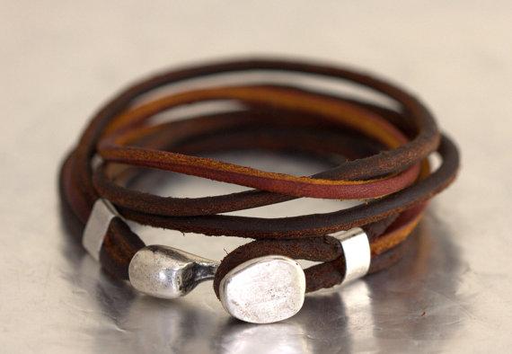 OLDU Etsy Shop Handmade Leather Bracelet $27