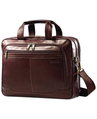 Samsonite Leather Toploader Briefcase Brown $169.95