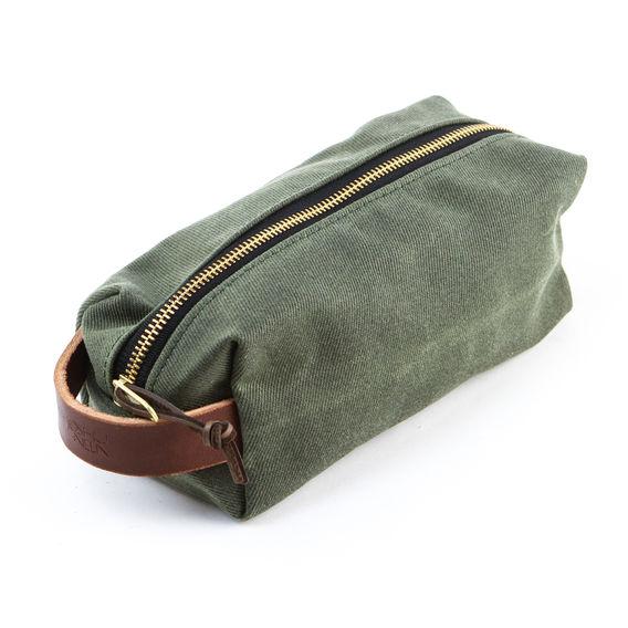 Leather & Canvas Dopp Kit $64.98