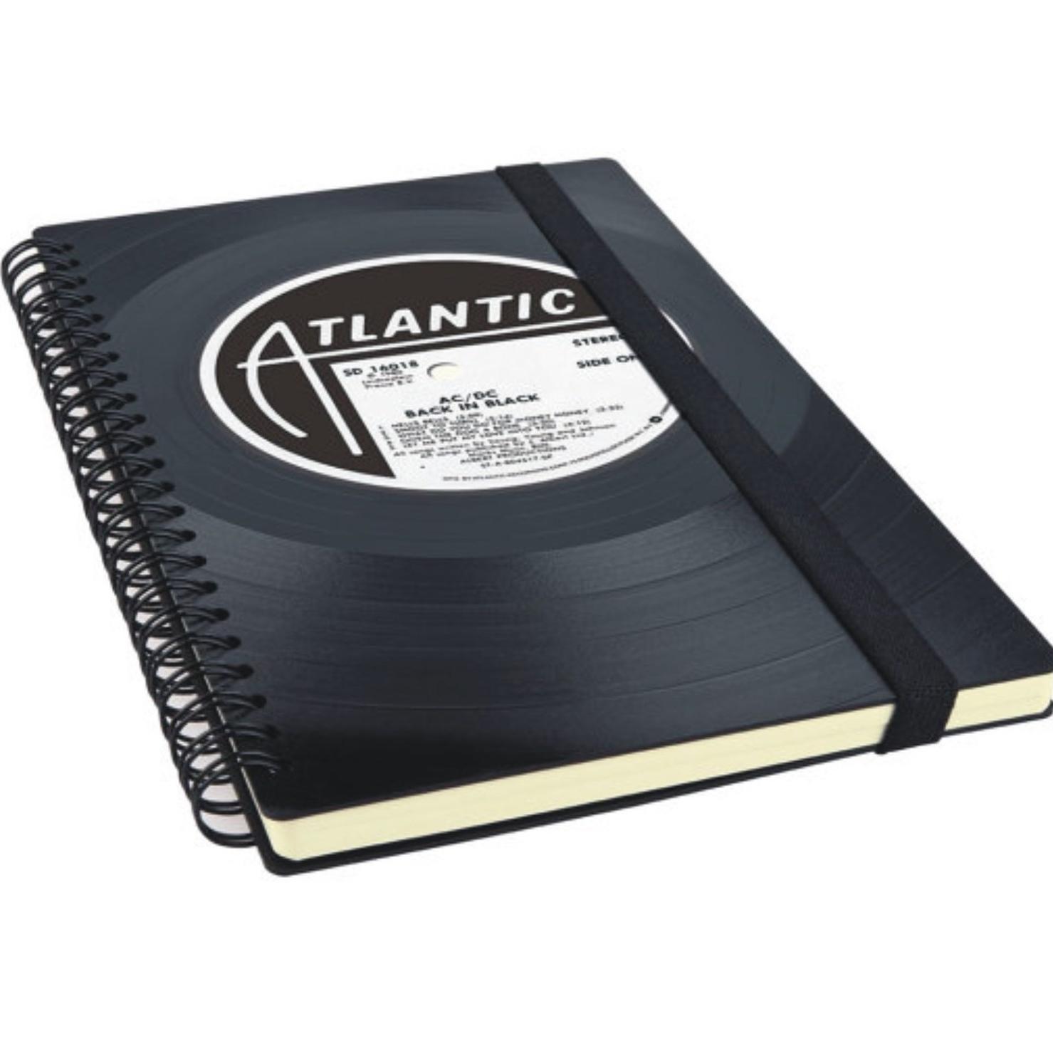 Vinyl Record Notebook $30