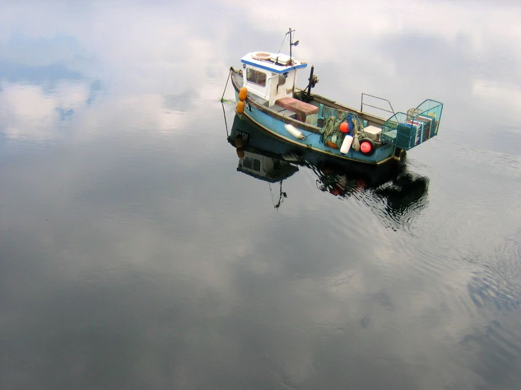 Dornie, Scotland (and it's a real boat).