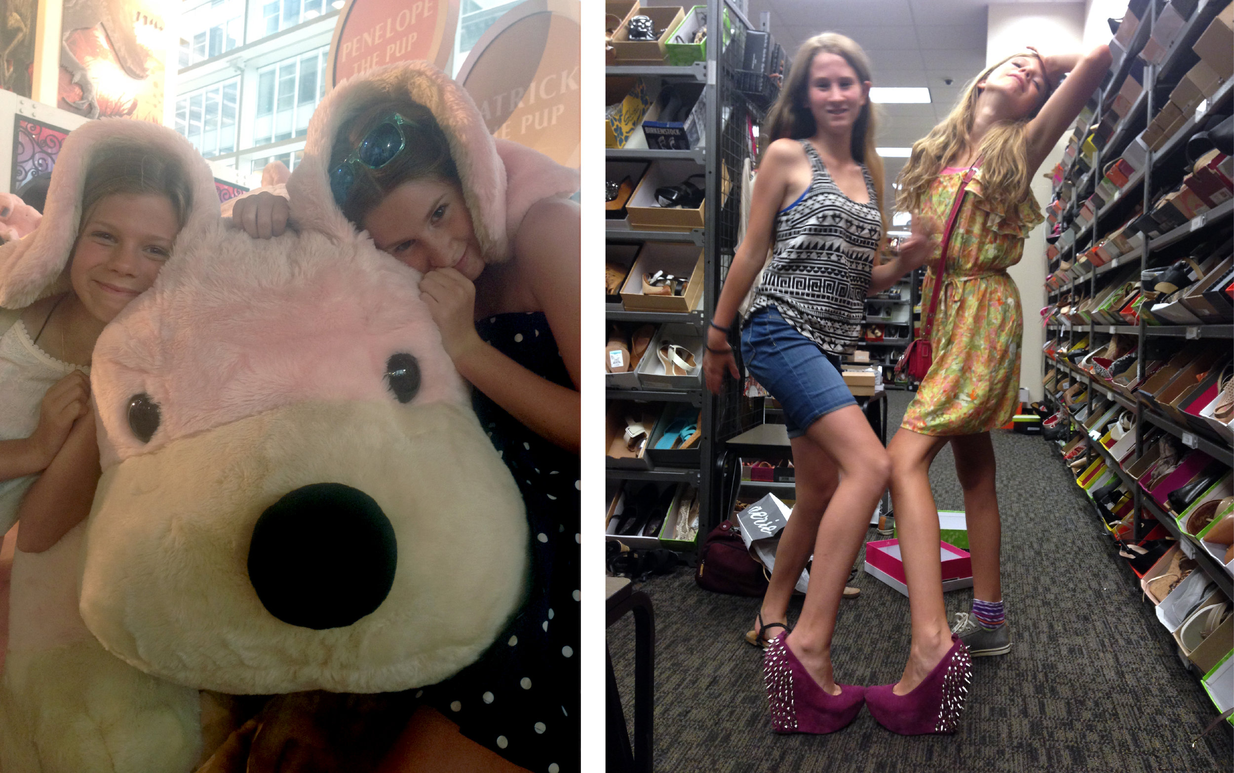 From the cuddly department at FAO Schwartz to the studdly shoe department at Nordstrom Rack.