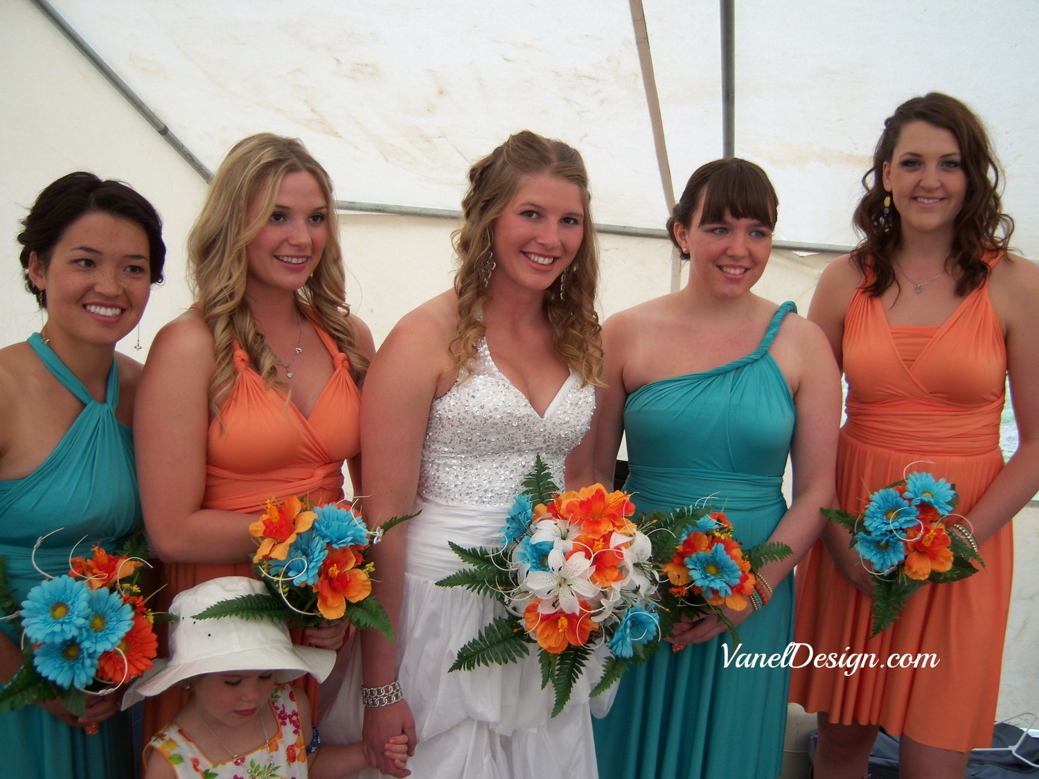 Teal and Orange Bridesmaids.jpg