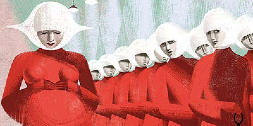 From the gorgeous Folio Society edition of  The Handmaid's Tale , illustrated by Anna & Elena Balbusso