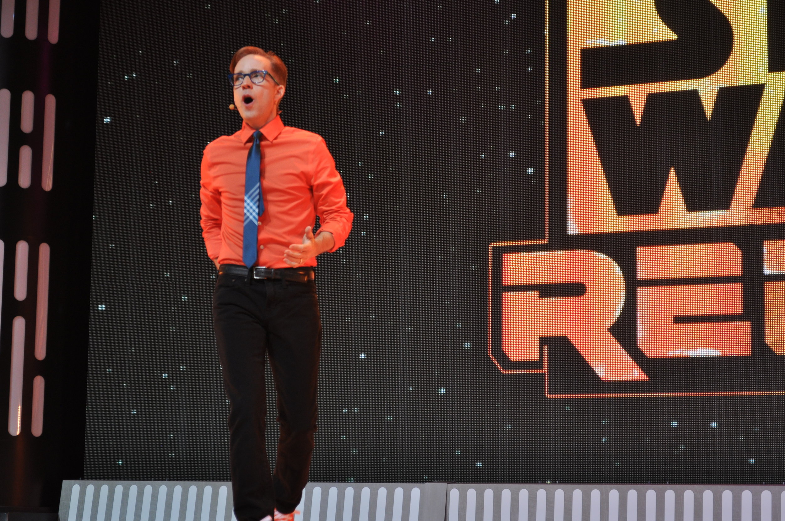 James Arnold Taylor hosts the Star Wars: Rebels show at Star Wars Weekends 2015.