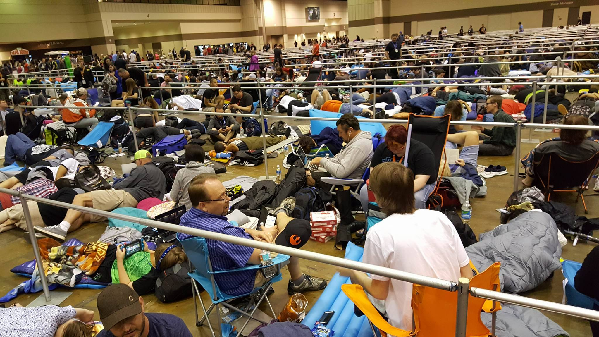 Eager fans spend the night in line for  The Last Jedi  Panel.