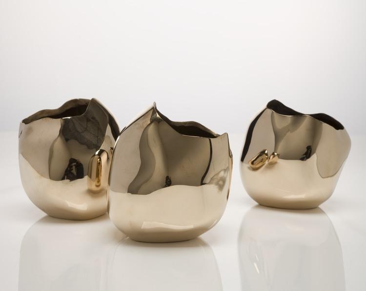 Polished Rock Vases by  David Wiseman,