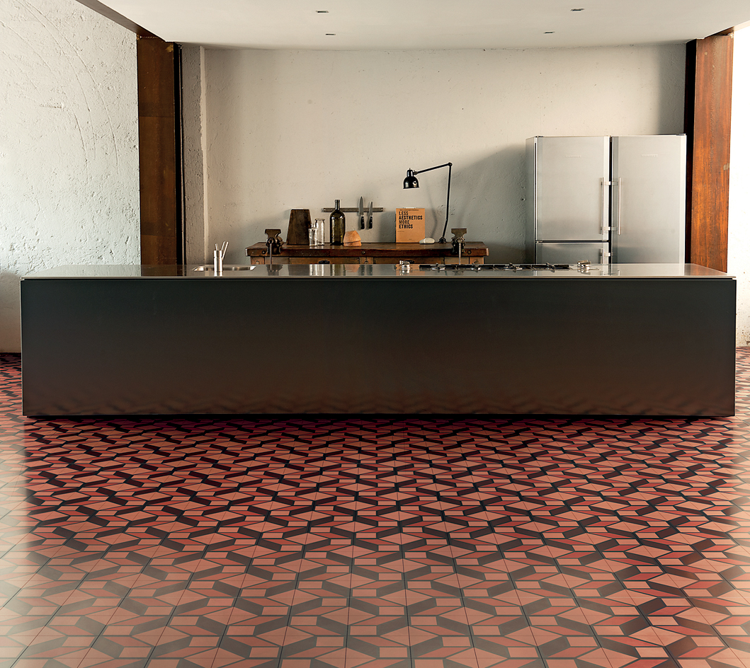 from Tom Dixon's architecture-inspired tile collection for Bisazza