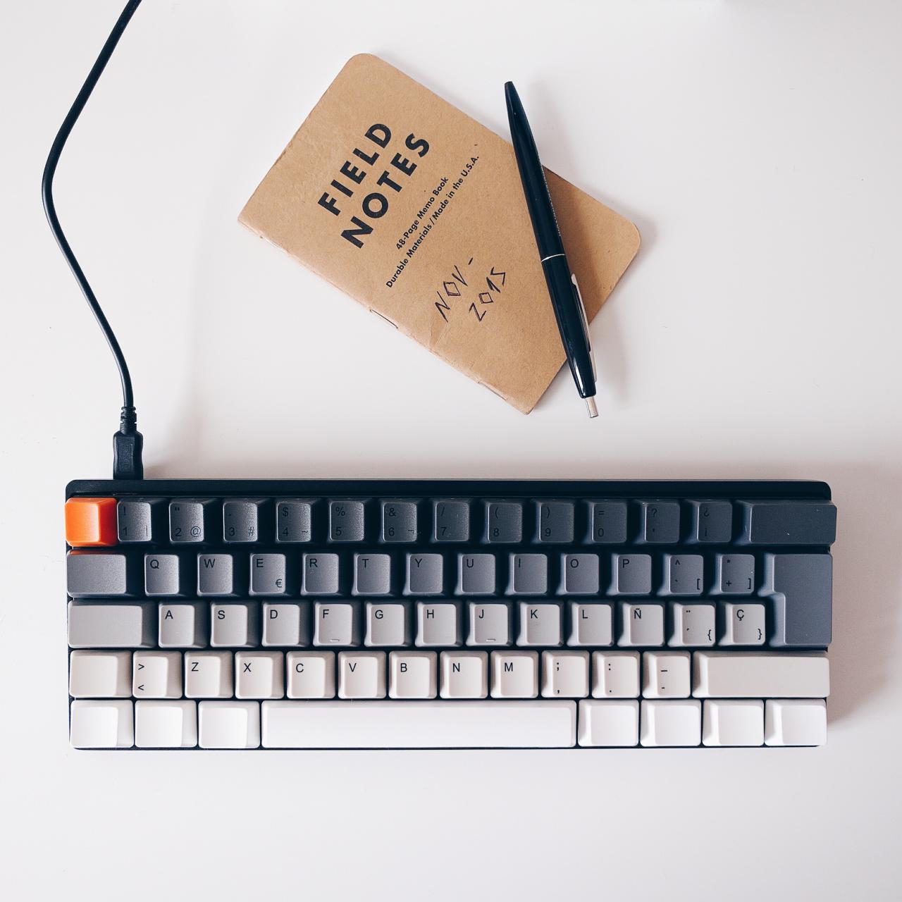 Custom Pok3r + WASD keyboard by reddit