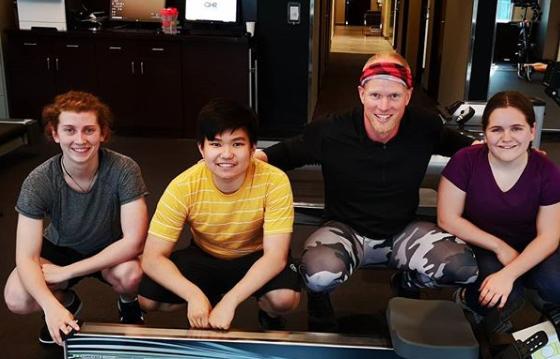 Left to right. Kerri lynch, David Luu, Olympian Adam Kreek, Laura Rodges