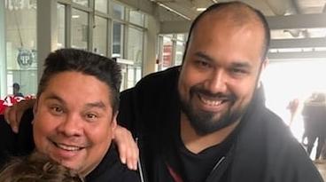 Coach Carlos (left), Coach Sanchez (right)