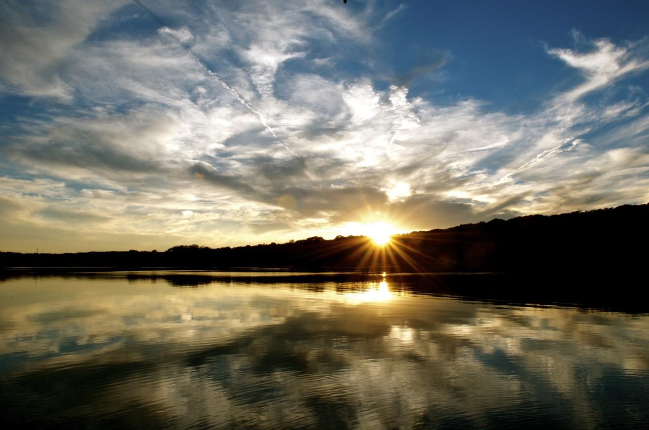 Sunset over Lake Pinchot