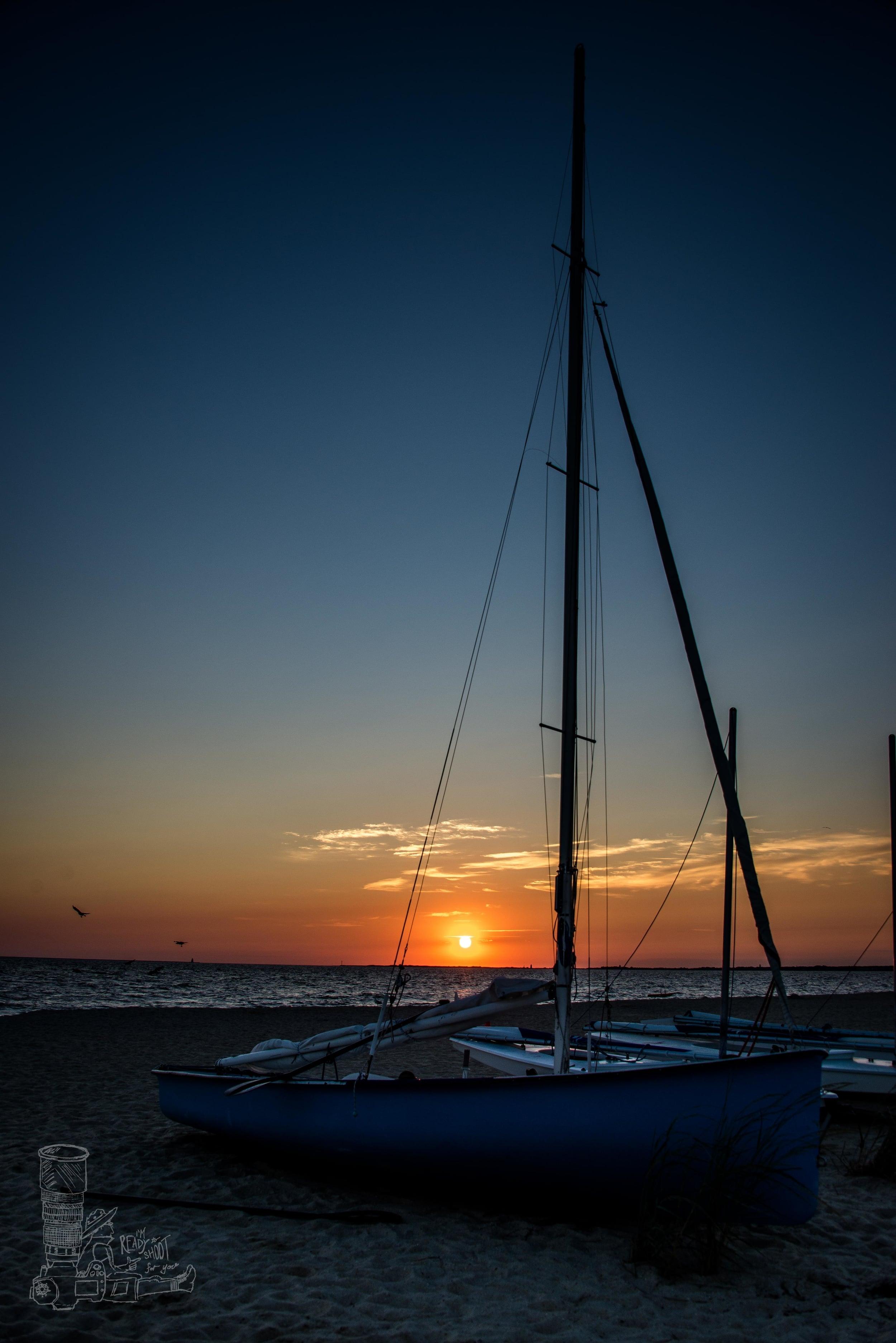Sunrise & Sailboats